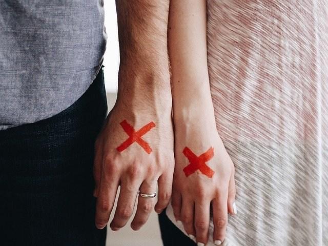 ločitev razveza strta ljubezen par