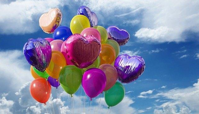 praznovanje rojstnega dne baloni