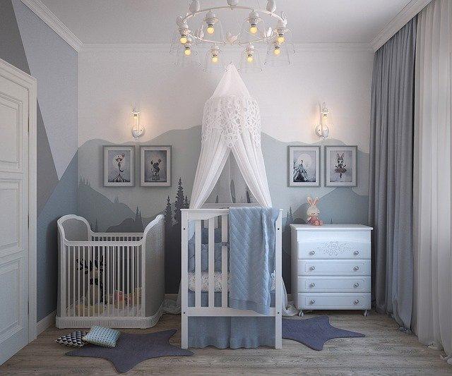 otroške sobe modre